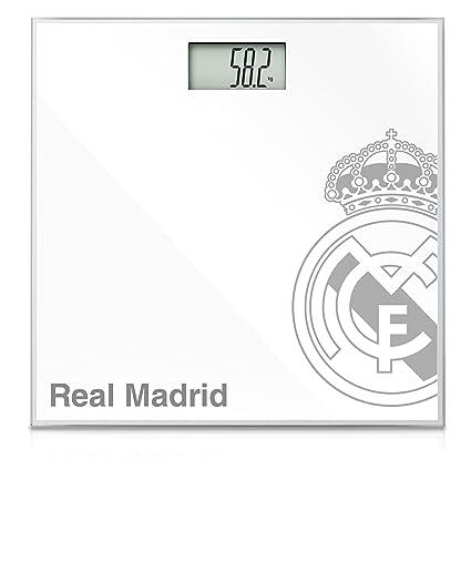 Taurus Real Madrid - Báscula de baño electrónica, color negro