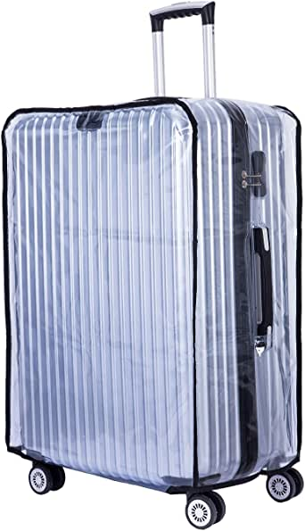 "BlueCosto Clear Oversize Travel Luggage Protectors Suitcase Cover 30"" 32"""
