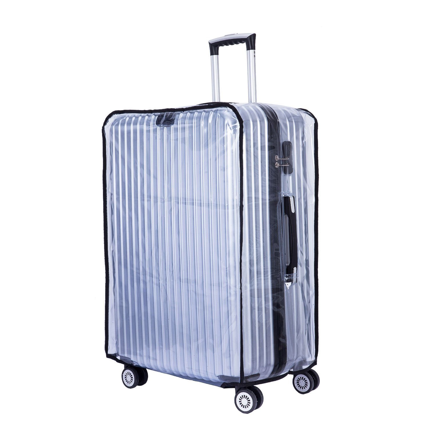 BlueCosto PVC Luggage Protector Travel Suitcase Cover 28'' (19.7''L x 12.2''W x 28.3''H) by BlueCosto (Image #2)