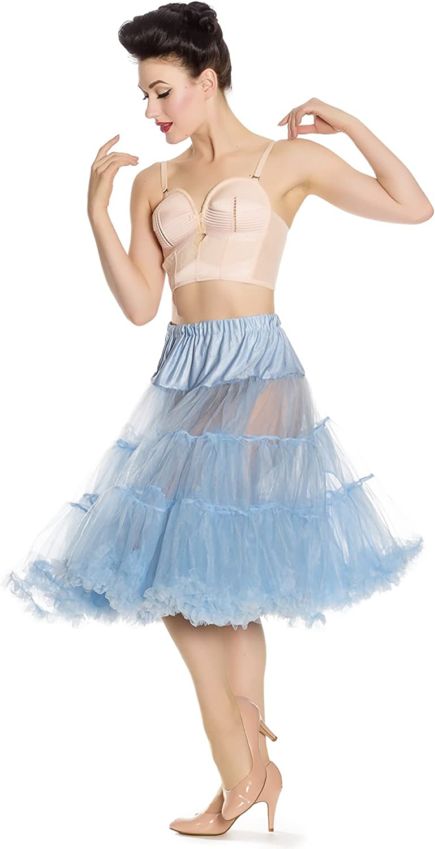 Hell Bunny Petticoat Swing Long Sky Blue