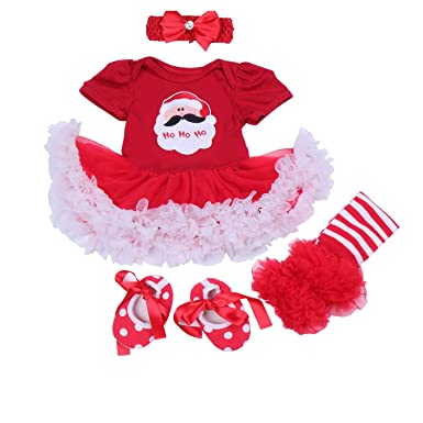 f2065bb1d BabyPreg Baby Girls My 1st Christmas Costume, Tutu Romper Headband ...
