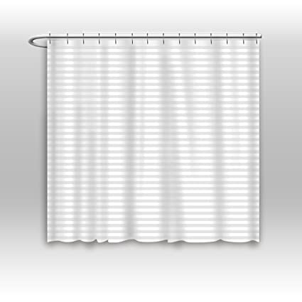 Vandarllin Hotel Quality Mildew Resistant Washable Fabric Shower Curtain Liner Extra Wide 84 X 72