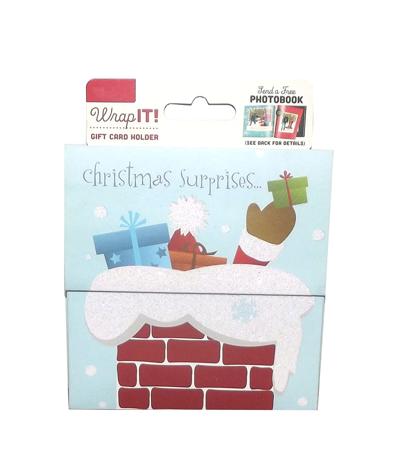 Amazon.com : Wrap It! Holiday Gift Card Holder, 4 X 4 inches ...