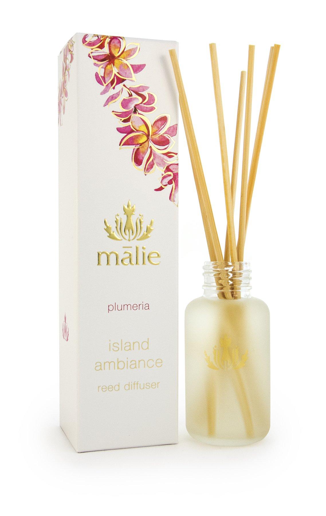 Malie Organics Malie Island Ambiance Reed Diffuser, Plumeria