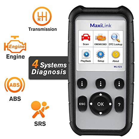 Vin Number Scanner >> Autel Maxilink Ml629 Enhanced Can Obd2 Scanner With Abs Srs Transmission Engine Diagnosis Auto Vin Scan Tool Turn Off Check Engine Light Advanced