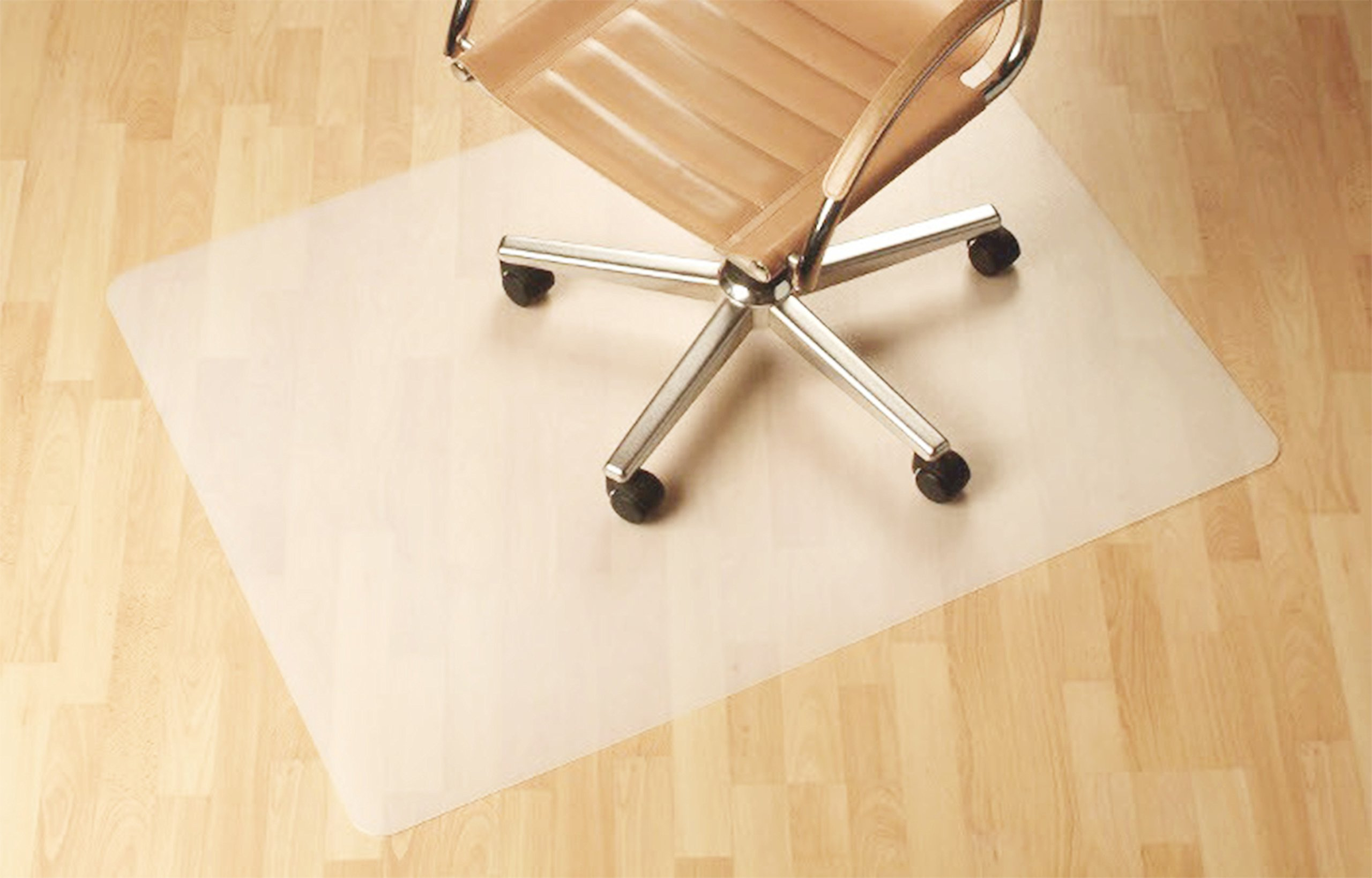 Polytene Office Chair Mat, 47''x35'',Hard Floor Protection with Rectangular Shaped Anti Slide Coating on The Underside,Semi Clear
