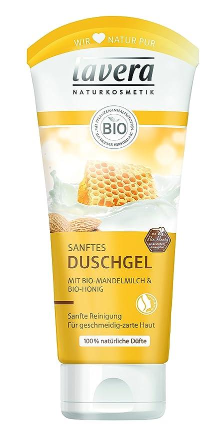 Lavera 106235 - Gel de ducha con leche de almendras y miel orgánica - Pack de