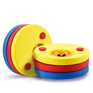 Mture Discos Flotantes, Manguitos para Niños que Aprenden a nadar, Espuma Mangas del Brazo de Flotabilidad Círculos Anillos - 6 Piezas: Amazon.es: Deportes ...