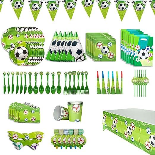 Amycute - 90 Piezas de fútbol para Fiesta de cumpleaños ...