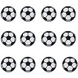 12pcs bola parches hierro en parches de fútbol de balón de fútbol para niños pantalones vaqueros ropa para coser en la chaqueta Mochila Applique DIY Craft