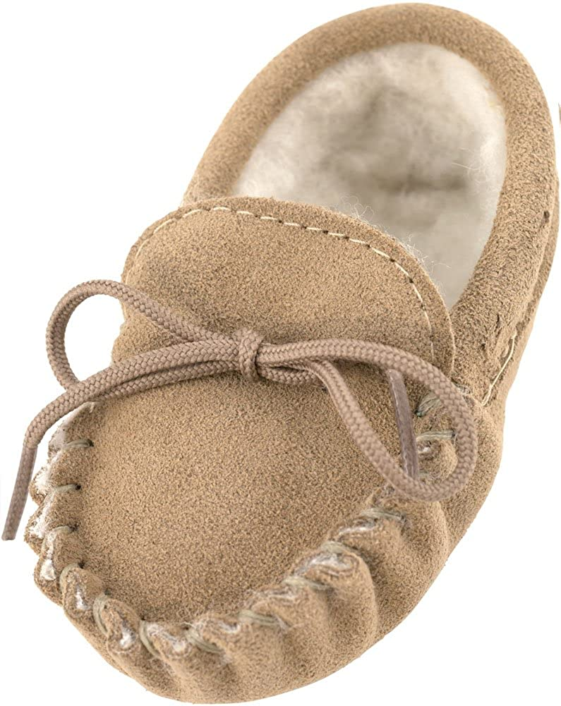 Lambland Baby Wool Lined Moccasin Slippers