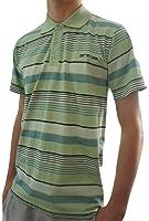 Men's ANIMAL Green Striped Short Sleeve Polo Shirt