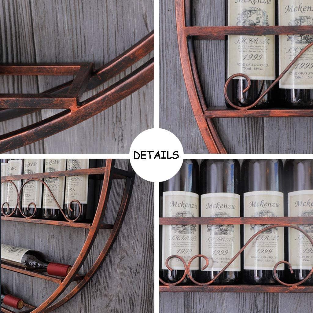 Am/éricain R/étro Porte-Bouteilles De Vin Rond Porte-Bouteille Mural Bar Pr/ésentoir Caf/é D/écoration Plateau