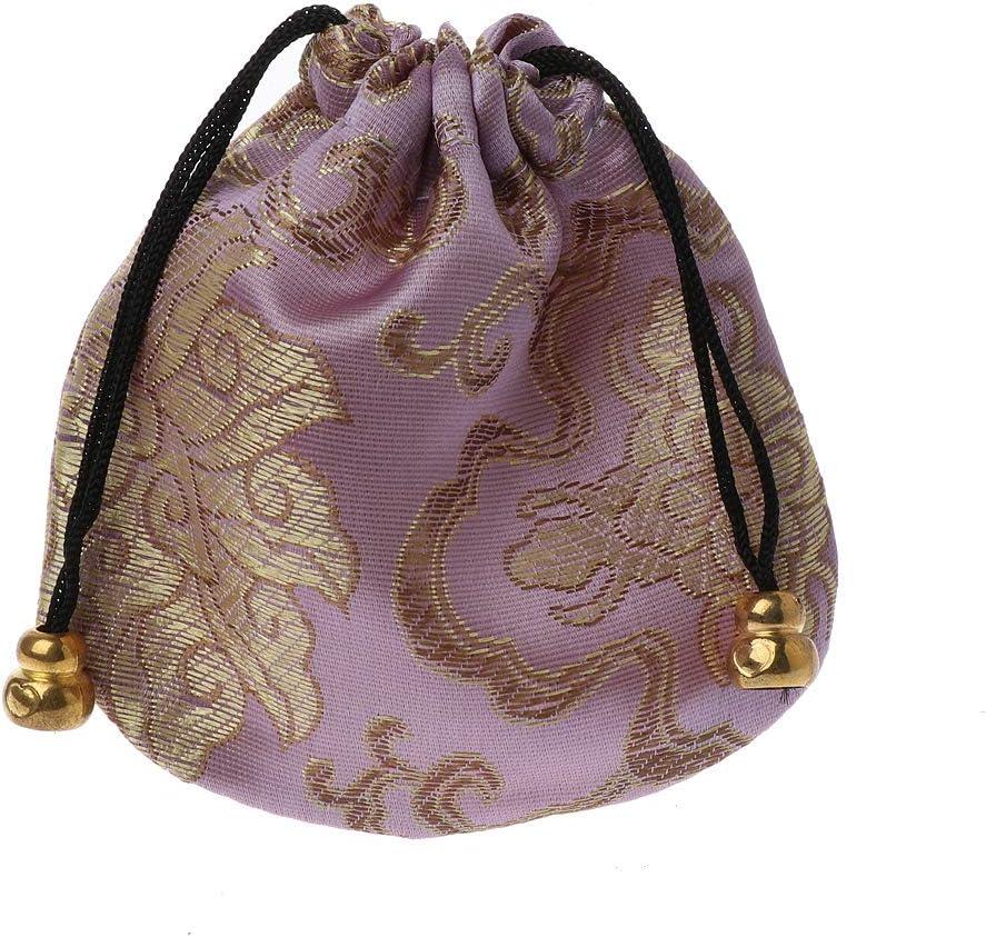 SimpleLife Bolsas de Bolsa de joyería Bolsa de Viaje de Seda Tradicional Bolsas de cordón de Bordado Chino para Embalaje de Regalo de joyería