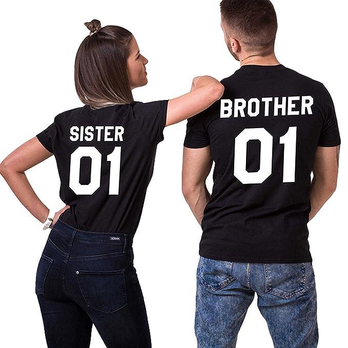 Paar Pärchen Partner Herren /& Damen T-Shirt SET mit WUNSCHZAHL und WUNSCHNAMEN