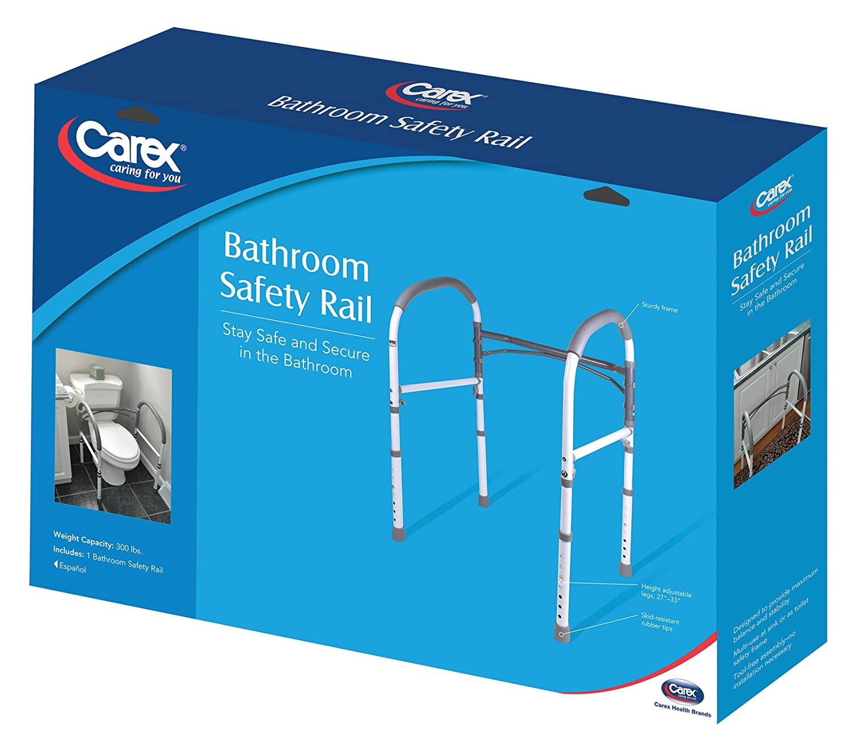 Amazon.com: Carex Health Brands Bathroom Safety Rail: Health ...