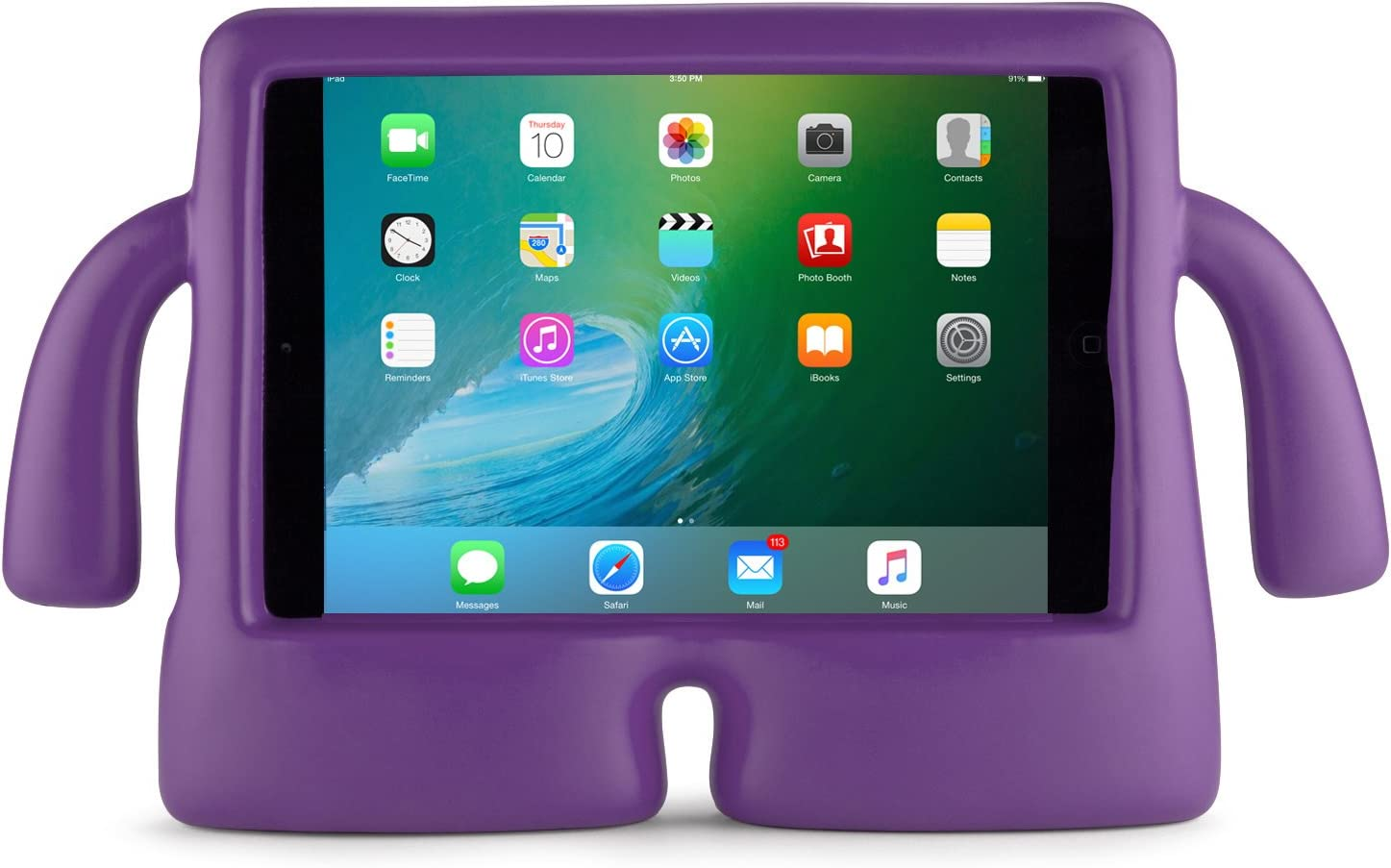Speck Products 92840-B102 iGuy Freestanding Protective Case for iPad Mini 2/3/4, Grape Purple, 25-Pack Business Packaging