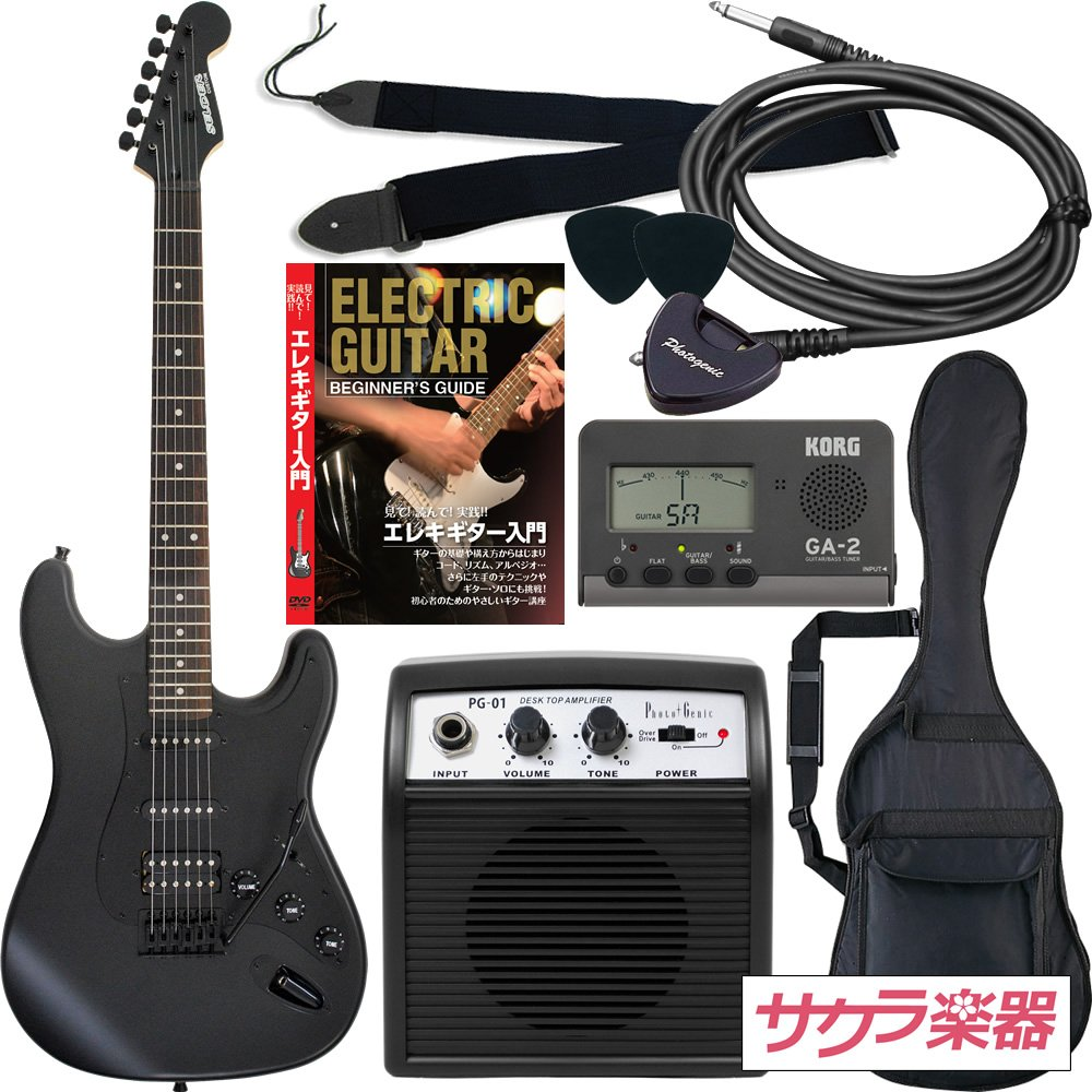 SELDER セルダー エレキギター ストラトキャスタータイプ サクラ楽器オリジナル STC-04/BB 初心者入門リミテッドセット   B013LMFXCS