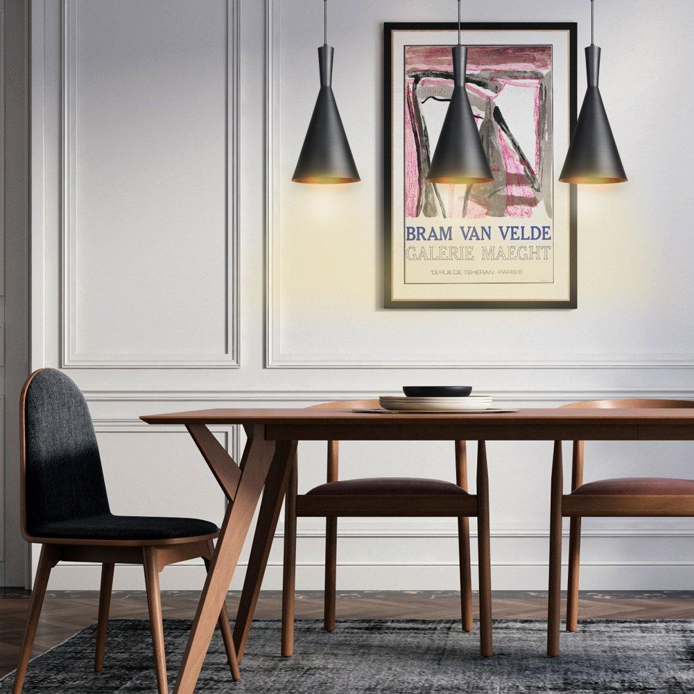 Elegant CCLIFE Industrial Lampe Pendellampe Pendelleuchte Hängelampe Deckenlampe  Hängeleuchte Vintage Retro Schwarz 19cm E27 Leuchtmittel 60W Küchen  Esszimmer ...