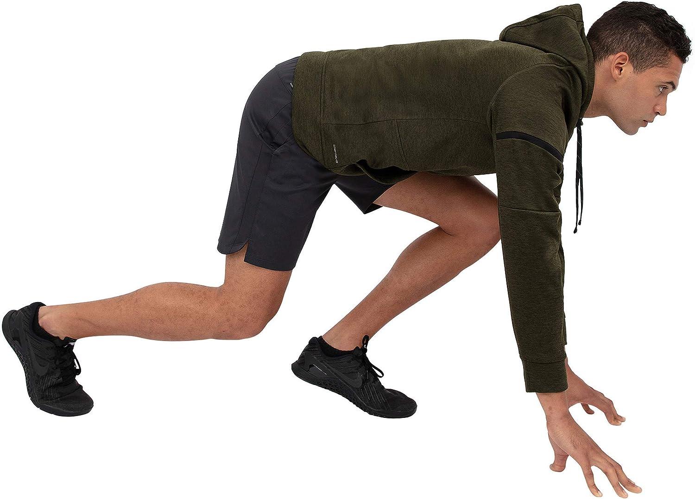 Layer 8 Mens Hoodie Performance Light Weight Training Workout Tech Fleece Athletic Sweatshirt Hoodie Top