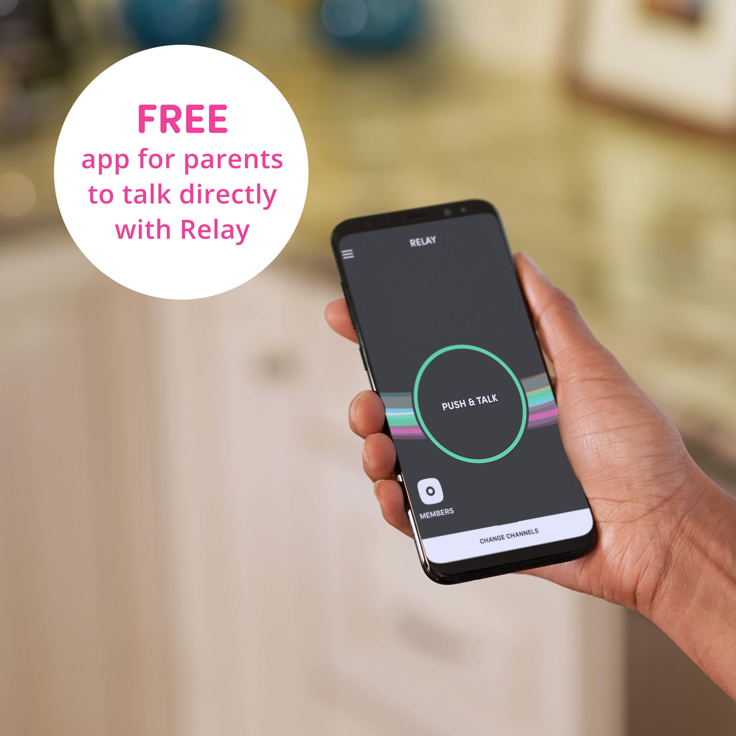 Relay Kids Screenless Smartphone, 4GLTE Nationwide Range Walkie Talkie, GPS Tracker, No Contract (Blueberry) by Relay (Image #6)