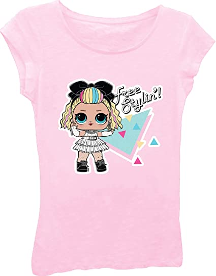 BackStri New Little Girl T-Shirt LOL Surprise Doll Girls Toddler Top Tee