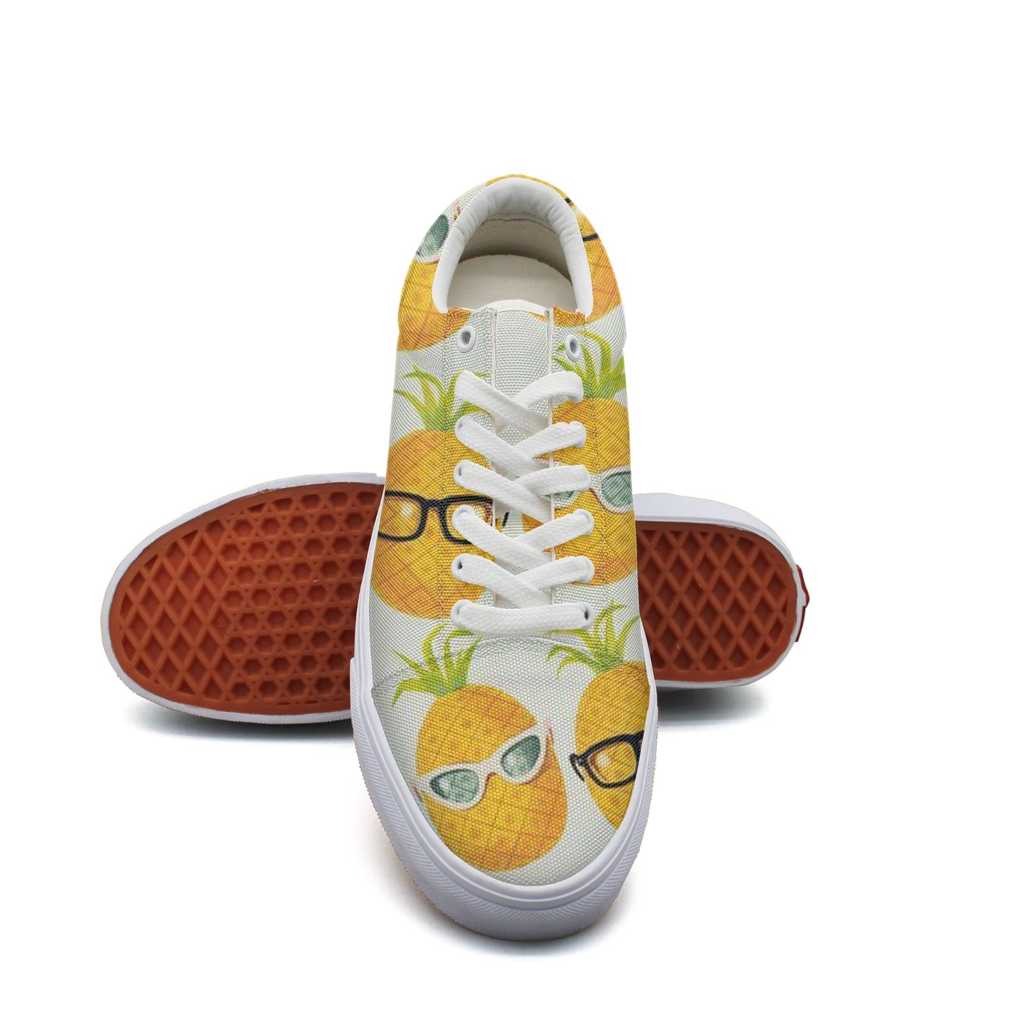 Pineapple With Glasses Cool Women¡s Casual Sneakers Shoes Skateboard Customize Low Top Trainers