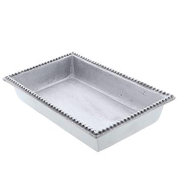 Buy Napkin Holder Beaded Edge Metal Flat Napkin Box Dinner Online At Low Prices In India Amazon In