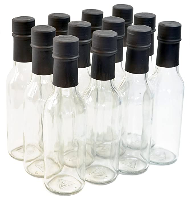 Clear Glass Woozy Bottles with Shrink Capsules, 5 Oz - Case of 12