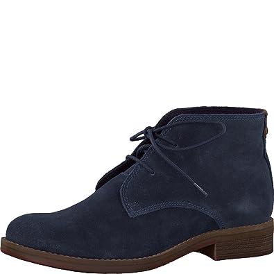 s.Oliver 5-5-25231-29 Modische Damen Stiefelette, Bootie, Stiefel, Desert Boot, Schnürstiefel blau (NAVY), EU 38