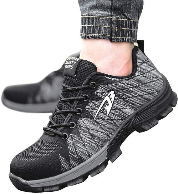 ღLILICATღ Zapatos de Seguridad para Hombre Transpirable Ligeras ...
