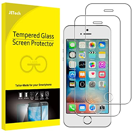e33843e6690 JETech Screen Protector for iPhone SE 5s 5c 5 Tempered Glass Film, 2-Pack