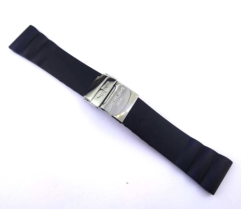 24 mmブラックゴム時計ストラップfor Bentley Supersports a26364 Watches 454brt  B07DK9KR77