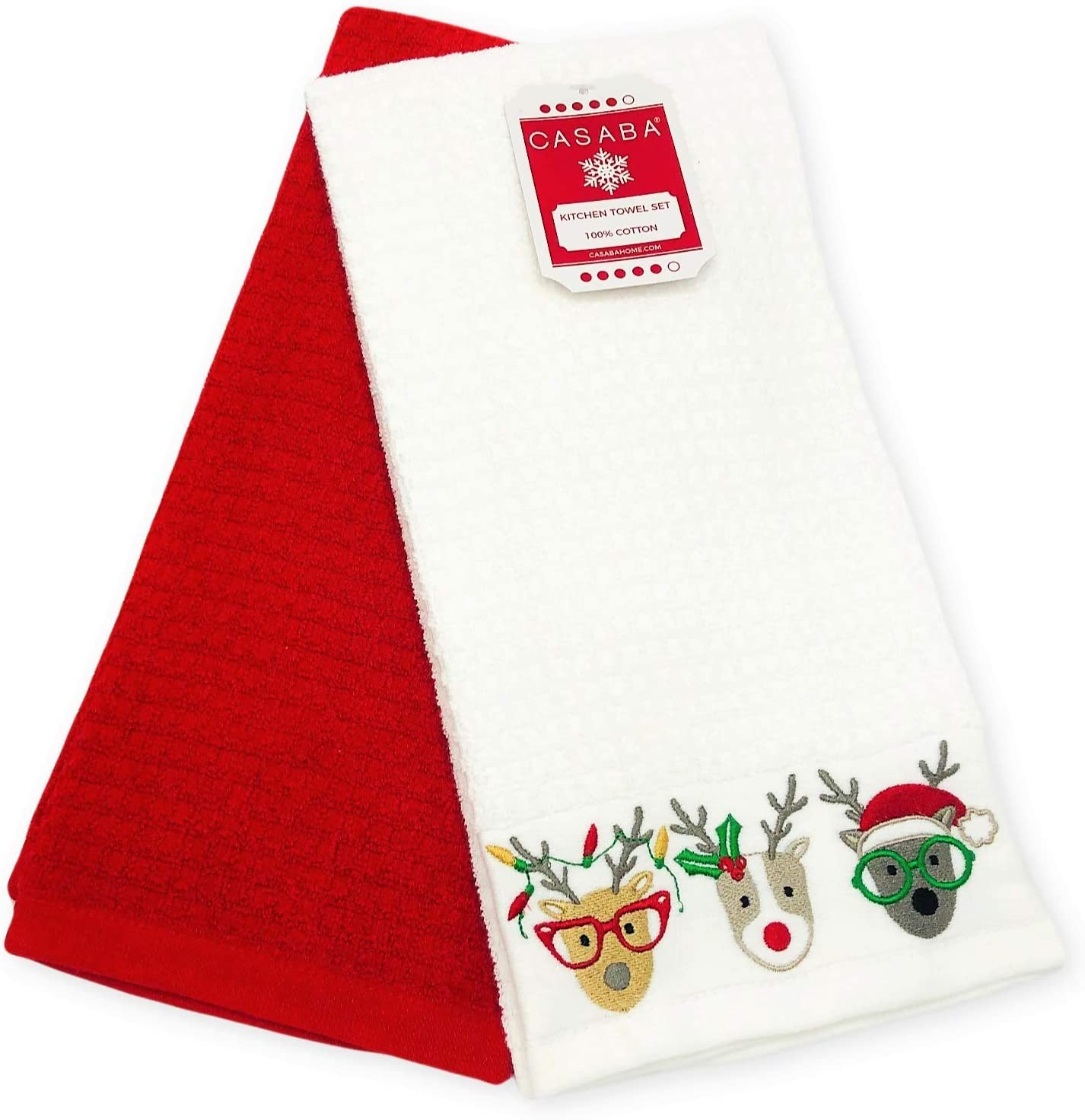 Gnome For Holidays Christmas EMBROIDERED SET OF 2 BATHROOM TOWELS By Laura