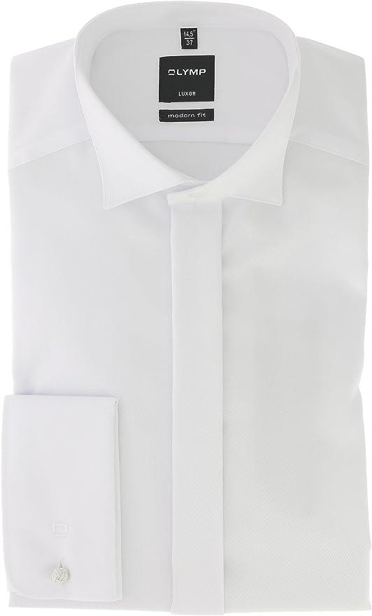 OLYMP - Camisa de vestir - para hombre Blanco blanco: Amazon ...