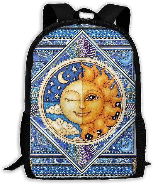 K-dark Tapestry Sun Moon Celestial - Mochila de Hombro para ...