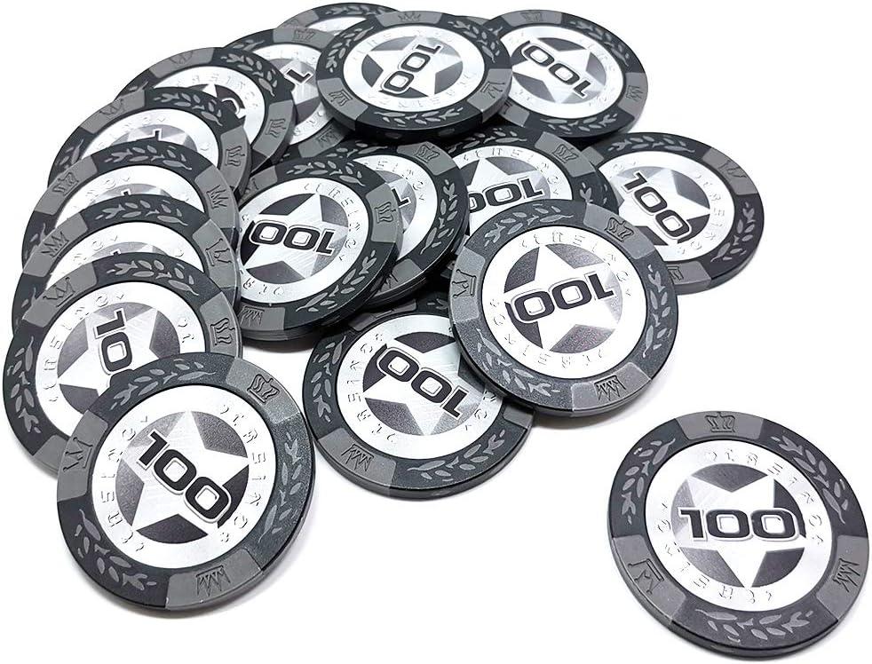 COSDDI 20 Pcs Poker Chips Casino Club Poker Chips Bulk $1,000 Choose Denomination