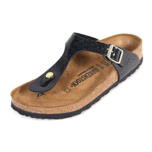 Birkenstock Women's Arizona Magic Snake Birko-Flor Narrow Fit Sandal Black-Black-4.5 Size 4.5 XqhSXc3