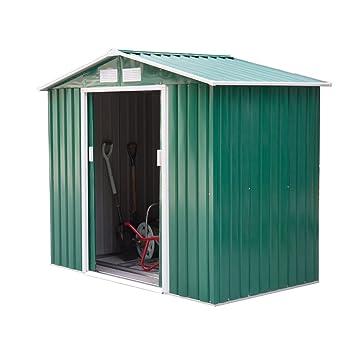 OutsunnyCobertizo grande techado para jardín, con cerradura, ideal para patio
