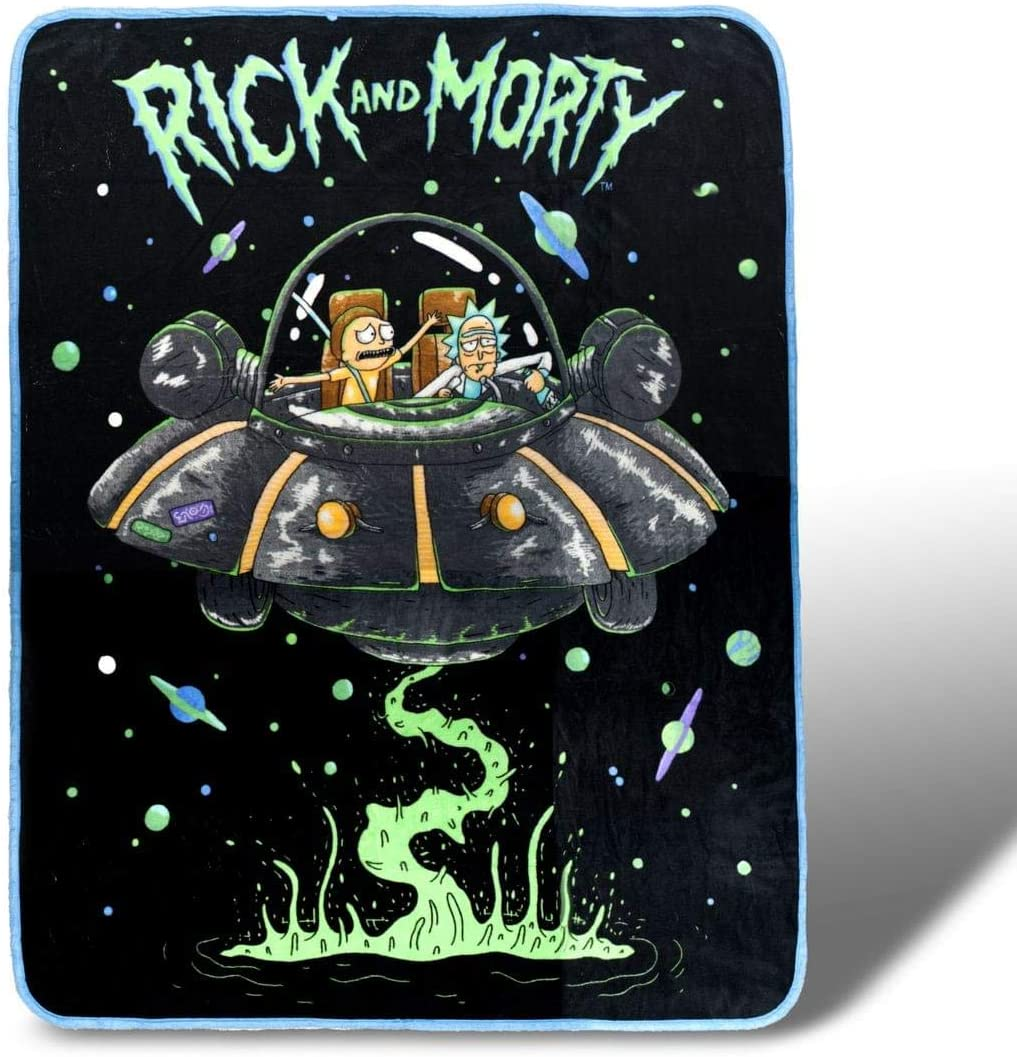 Rick and Morty Fresh Start Fleece Throw Blanket 45 x 60 Inches ...