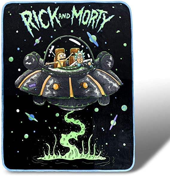 Rick and Morty Fresh Start Fleece Throw Blanket 45 x 60 Inches: Amazon.es: Juguetes y juegos