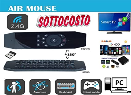 Mando a distancia ratón teclado Smart Remote Wireless USB Android TV Box recargable: Amazon.es: Electrónica