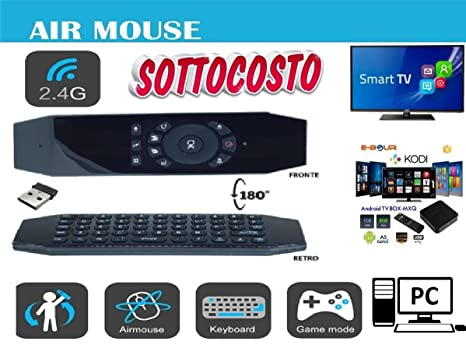 Mando a distancia ratón teclado Smart Remote Wireless USB Android TV Box recargable