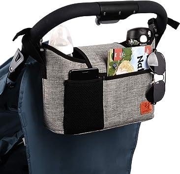 Pram Stroller Buggy Storage Pushchair Bag Organizer Bottle Cup Pouch Holder N7