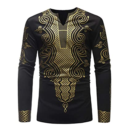 c8c454d3 Amazon.com: Coohole Mens African Clothing Tribal Dashiki Traditional ...