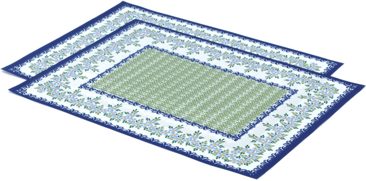 Set of 2 Place Mats 16 by 12-inch (Polish Pottery Wine Garden Theme)