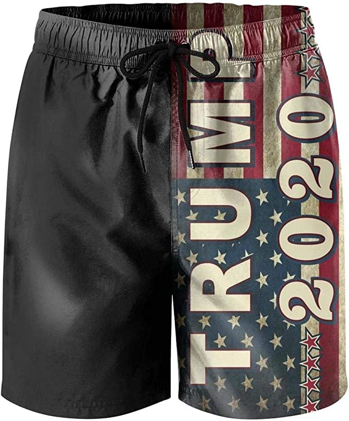 Red Firefighter Words Womens Quick Dry Swim Trunks Swimming Shorts with Mesh Liner