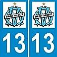 2 stickers autocollants plaque d 39 immatriculation om fournitures de bureau. Black Bedroom Furniture Sets. Home Design Ideas