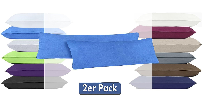 Lot de 2/taies doreiller avec fermeture /éclair en jersey 100 /% coton lilas 40 x 60 cm disponibles dans 12/couleurs modernes et 4/tailles diff/érentes