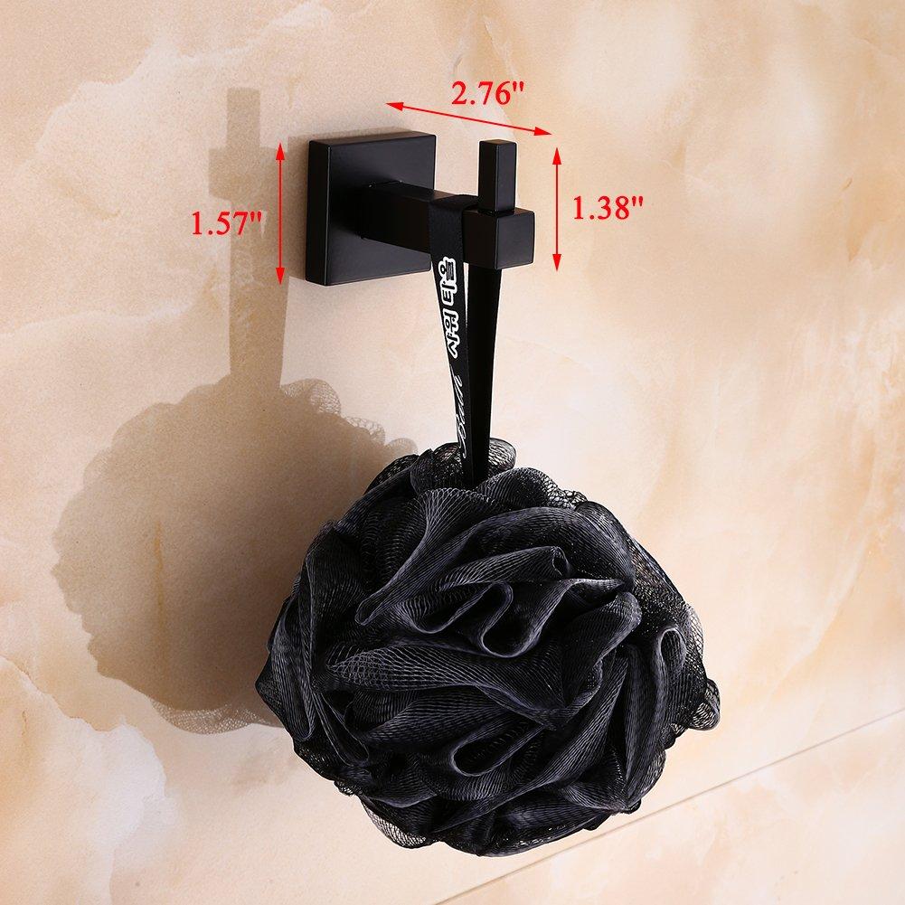 Amazon.com: ljlink individual negro ganchos para toalla ...